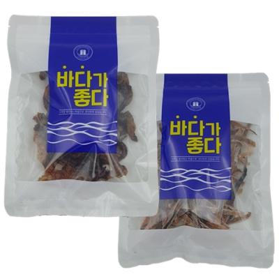 녹차함유 조미 꼬마오징어 숏다리 60g+슬라이스 60g