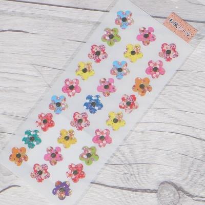 나카바야시 일본풍 돌출 데코 스티커-JF-449 꽃