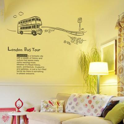 빠띠라인 디자인 스티커 a159_런던 2층버스 여행