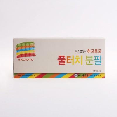 하고로모 분필 - 탄산 5색 합본 1통 72(本)
