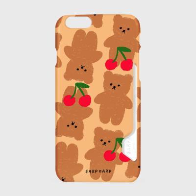 Dot cherry big bear-beige(카드수납케이스)