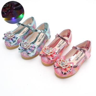 해피걸 썬샤인 150-200 아동 LED 라이트 구두 신발