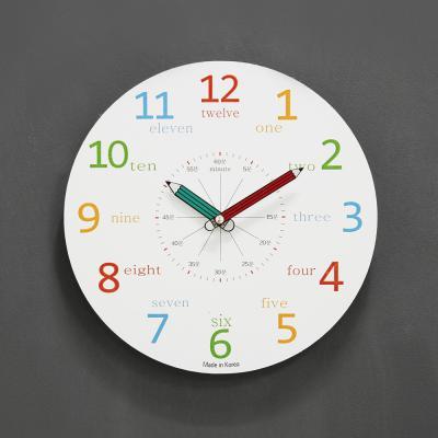 (kthx0430)저소음 교육용 칼라벽시계 260(화이트)