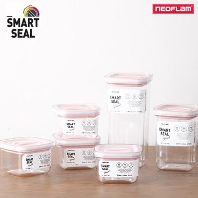 네오플램 스마트씰 포인트 밀폐용기 6종 12p 세트