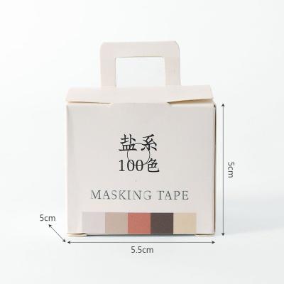 단색 마스킹테이프 5p세트(브라운그레이)