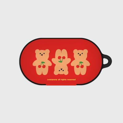 Three cherry big bear-red(Buds hard case)