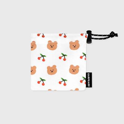 Dot cherry bear-white(미니 스트링)