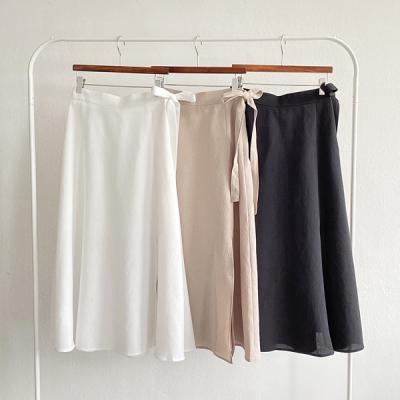 Ribbon Flare Long Skirt