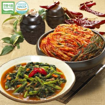 [명가김치] 국내산 포기김치 5kg+열무김치 3kg