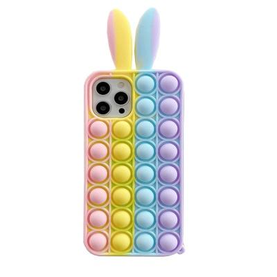 아이폰 12 11 se2 7 8 6 토끼 무지개 버블 팝잇케이스