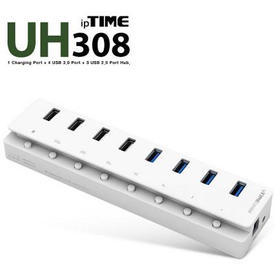 (아이피타임) ipTIME UH308 / 8포트 USB허브