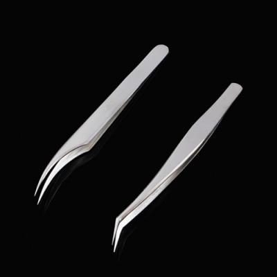 기본형 곡선 스텐 미용핀셋2p(1세트)