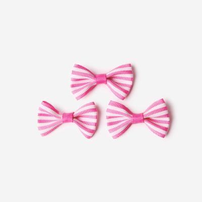 핑크 가로줄 완성리본 미니 (10개)
