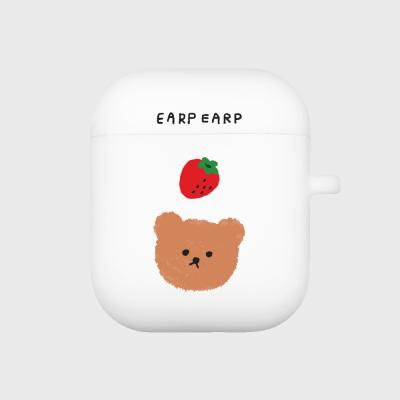 Dot strawberry bear-white(Air pods)