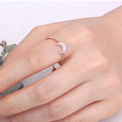 Mujer bonita Rings 클로에 로즈골드 체인 반지