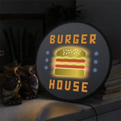 no170-LED액자45R_햄버거하우스
