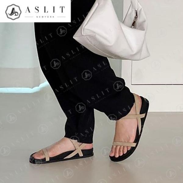 [애슬릿]발 편한 슬림 슬링백 여성 통굽 샌들 3cm