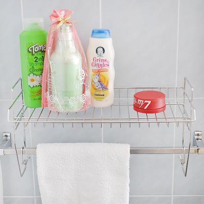 [토마톰스]수건걸이대 수납선반 1단