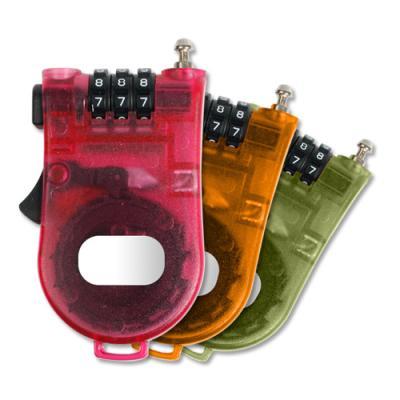 [BEAT] 칼라 3중번호잠금 오토릴 와이어 자물쇠