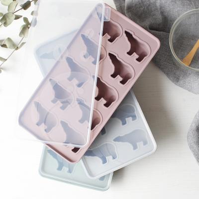 파스텔 실리콘 아이스몰드-북극곰 10구 (3color)