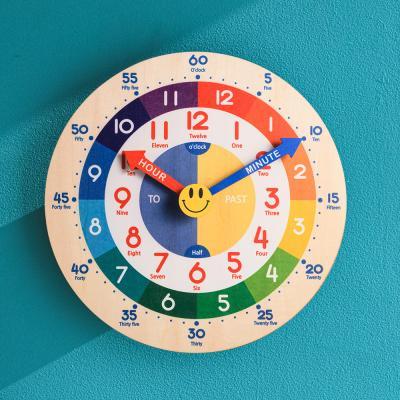 오리엔트 OT876 무소음 레인보우 영어 교육용벽시계