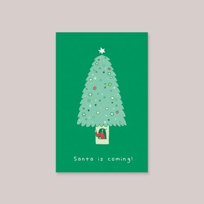 [카드] SANTA IS COMING