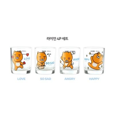 카카오프렌즈 꿀주잔 4P세트