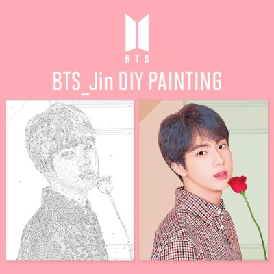 BTS Jin DIY PAINTING 방탄소년단 진 DIY 그리기 아이러브페인팅