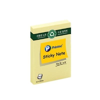 [프린텍 주식회사] 친환경점착메모지 E5176Y 노랑 [개/1] 133154
