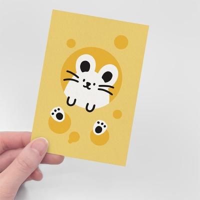 [무직타이거] 치즈 뚱찌 엽서