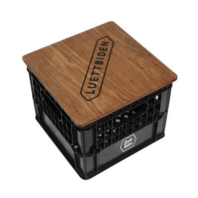 밀크 박스_딥블랙(우드상판+스티커선택+쿠션)