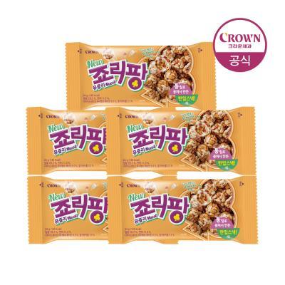 크라운 죠리퐁 죠리팡 뮤즐리 딸기마카롱 34g 5개