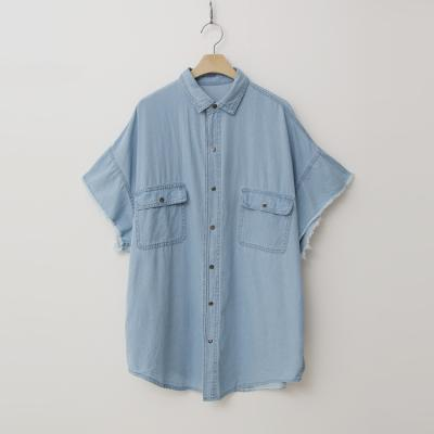 Summer Denim Long Shirts - 반팔