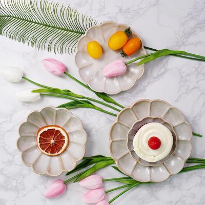 시노 빈티지 꽃그릇 접시