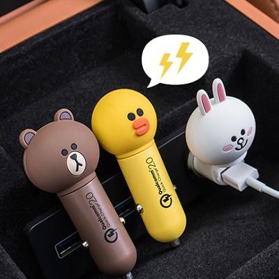 샐리 - 라인프렌즈 급속 차량용 충전기