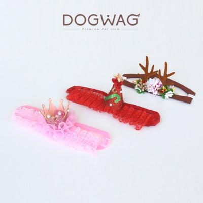 [도그웨그 DOGWAG] 강아지&고양이 왕관, 꼬깔, 꽃사슴