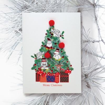 FS1030-3 크리스마스카드,트리,산타,성탄절