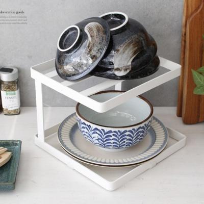 [2HOT] 디몬 철제 접시 정리대 사각 2단