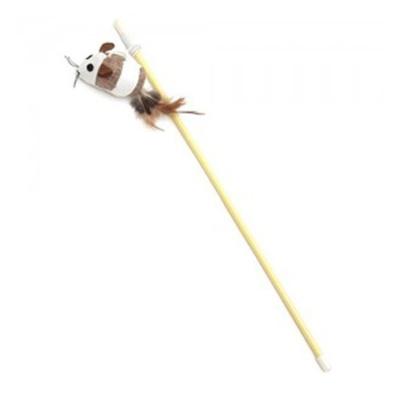 내추럴 쥐돌이 낚시대 고양이 깃털 장난감