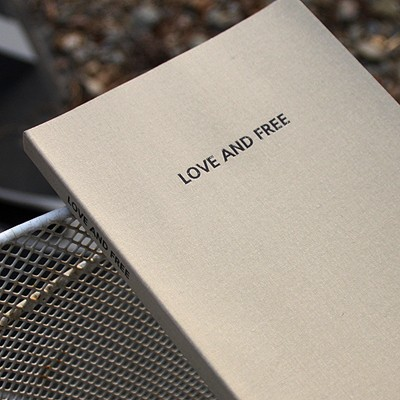 LOVE AND FREE blank note ver.01 - light gray