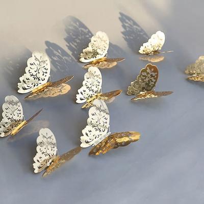 3D 나비 입체포인트 스티커A-gold 12P