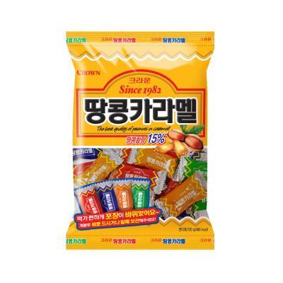 크라운 땅콩 카라멜 사탕 (소) 120g
