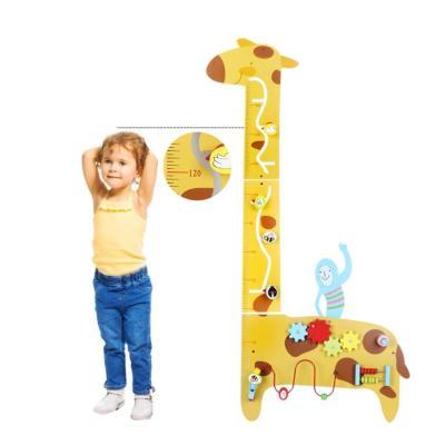 맥킨더 원목 어린이 기린 키재기판