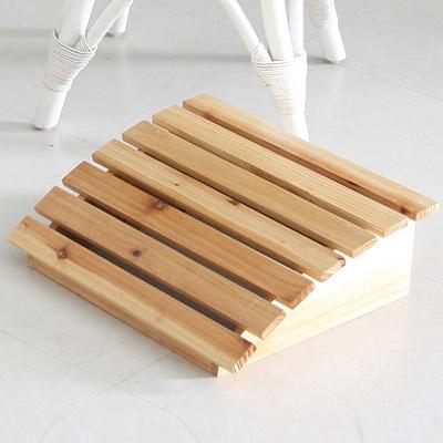 앳홈 삼나무 원목 발받침대