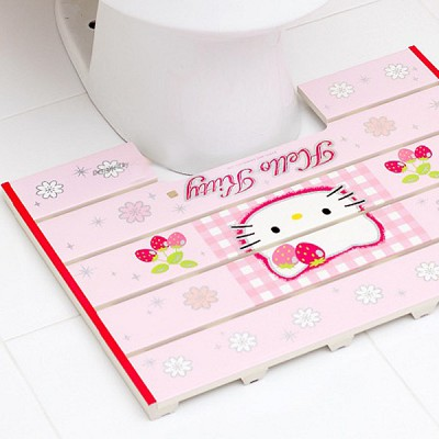 헬로키티 욕실발판홈 딸기
