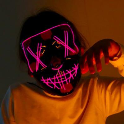 할로윈 핑크 LED마스크