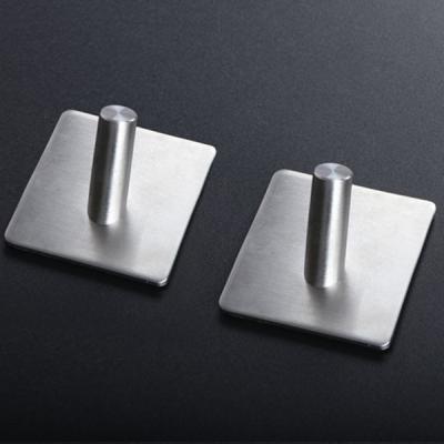 인블룸 접착식 스텐 욕실 다용도 후크 1구_4개입
