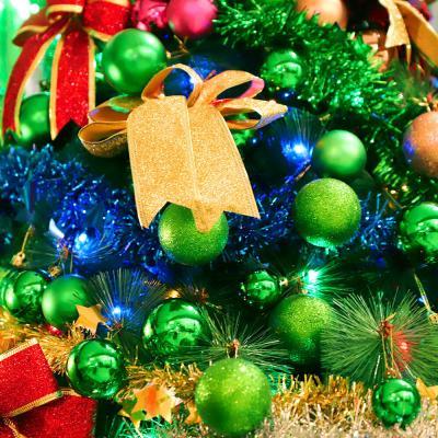 크리스마스 장식볼 오너먼트 4cm 24입 (그린)