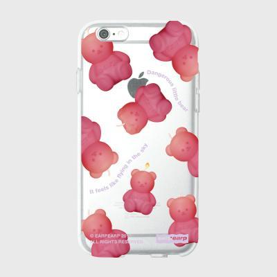 Little fire covy pink pattern-clear(젤리)