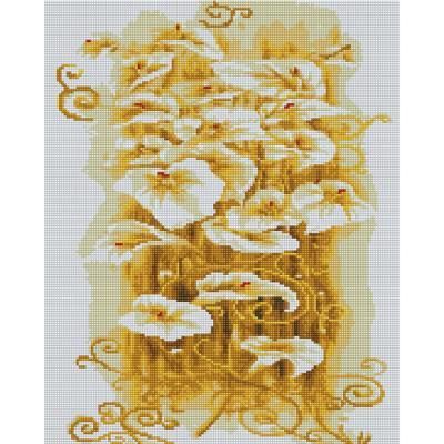 황금카라 (캔버스형) 보석십자수 40x50